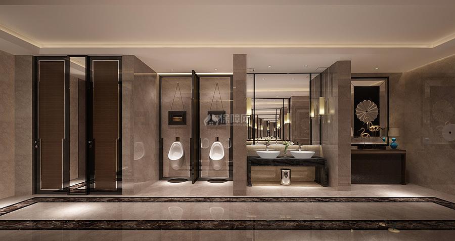 羿荣耀城酒店餐厅之卫生间装修效果图