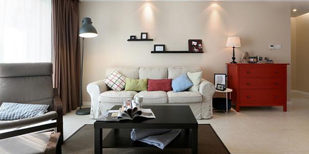 130平现代简约三室装修效果图案例赏析