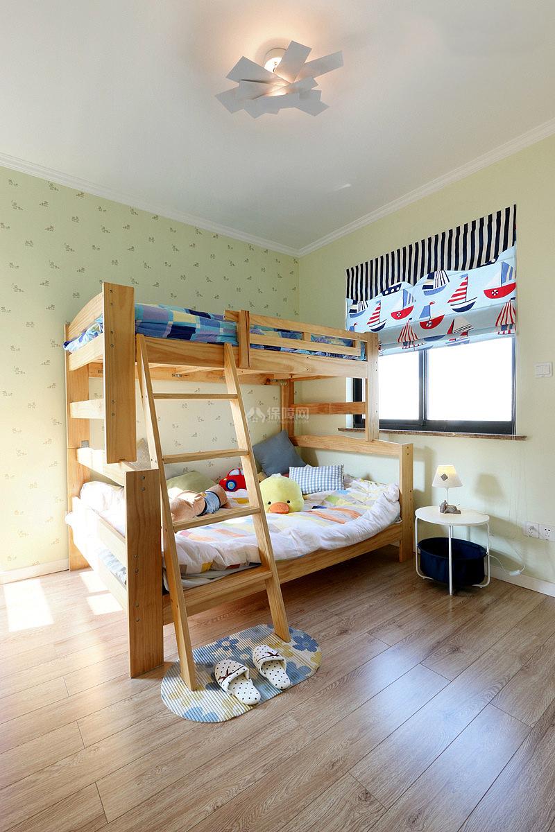 130平现代简约三室之儿童房高低床效果图