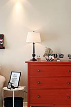 130平現代簡約三室之客廳邊柜布置效果圖