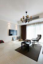 130平現代簡約三室之電視墻裝修效果圖