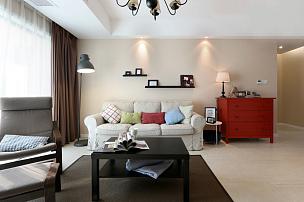 130平现代简约三室之客厅装修效果图