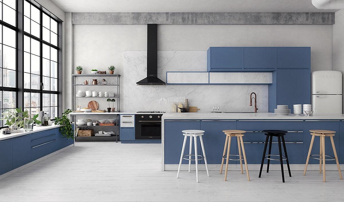 蓝色系色彩v蓝色玩转家居鱼缸搭配厨房底滤设计图系统图片