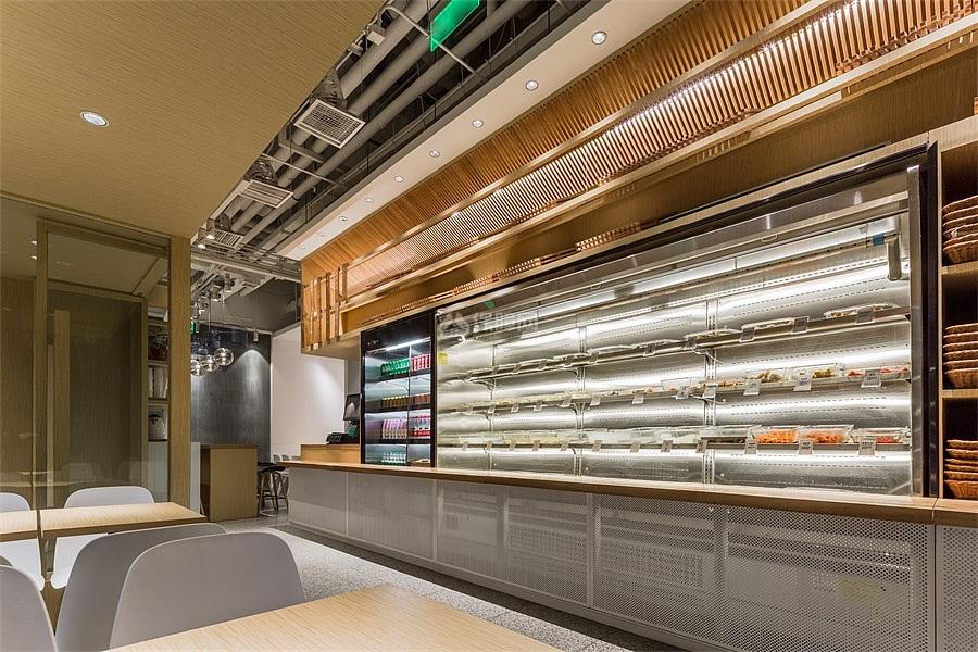 北京冒鲜冒菜店之菜品摆放区设计效果图