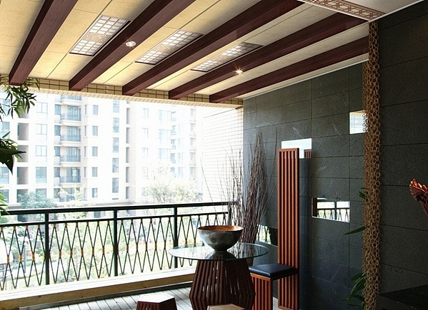 阳台吊顶装饰 不一样的阳台吊顶装修效果图