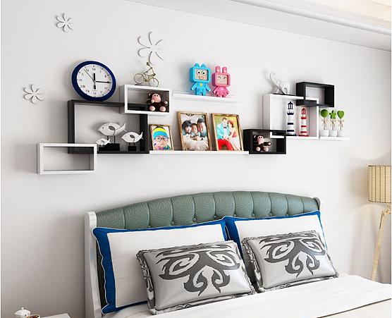 不拘一格的墙壁隔板置物架与安装
