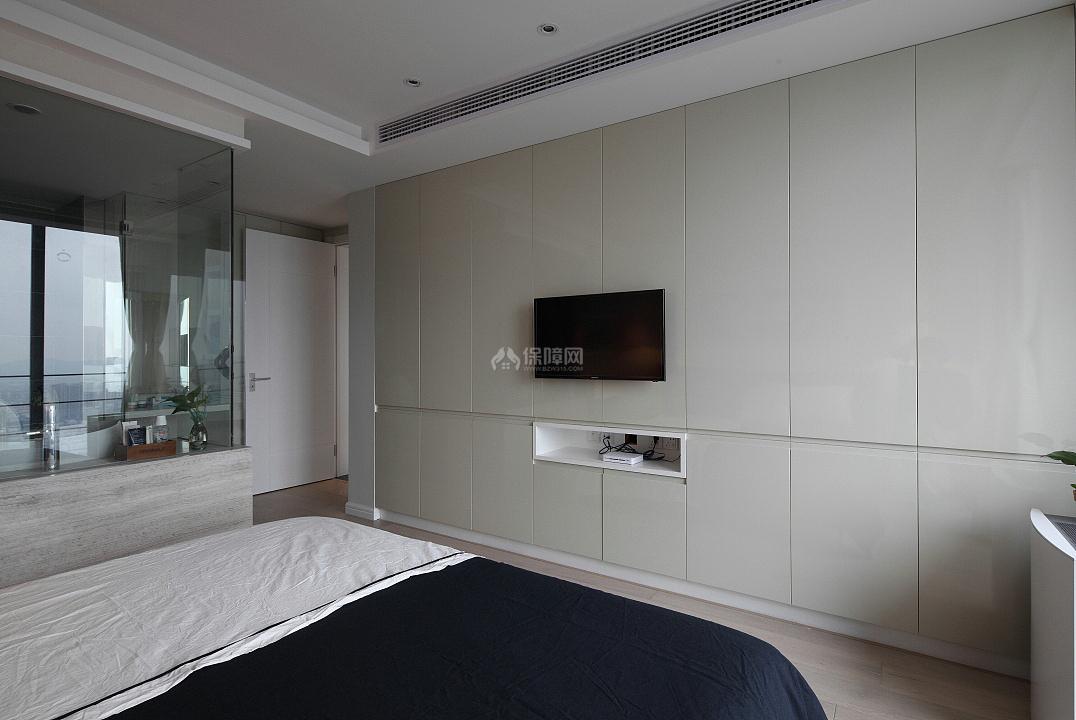 142㎡混搭风三居之卧室电视墙设计效果图
