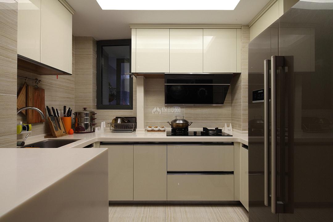 142㎡混搭风三居之厨房整体设计效果图