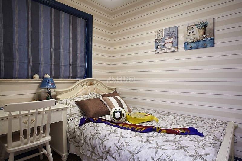 125㎡地中海风格三居之儿童房整体布置效果图
