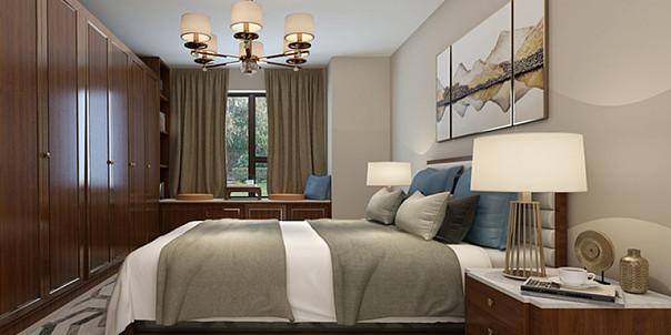 135㎡新中式三居家装装修效果图案例