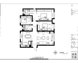 135㎡新中式三居户型图