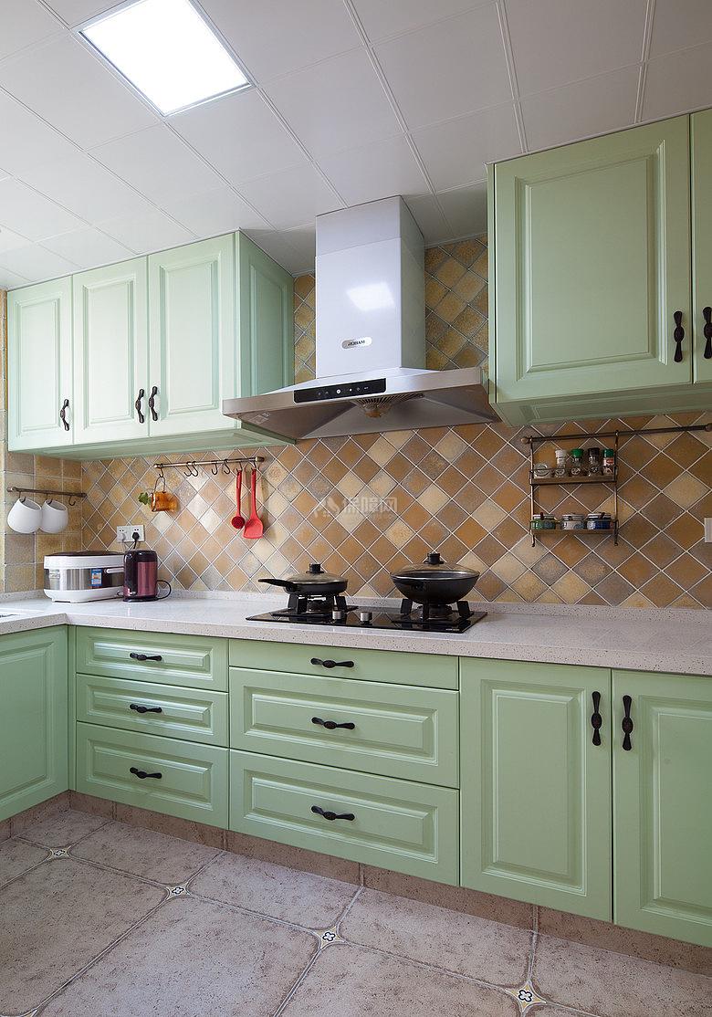 134㎡唯美美式风复式之厨房装修效果图