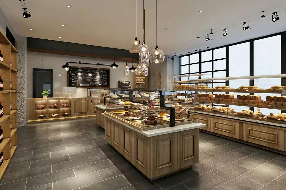 江北区青麦面包店装修设计效果图案例图片