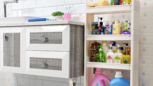 家居浴室置物架如何安装