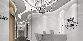 曼尔美容院工装装修设计效果图案例