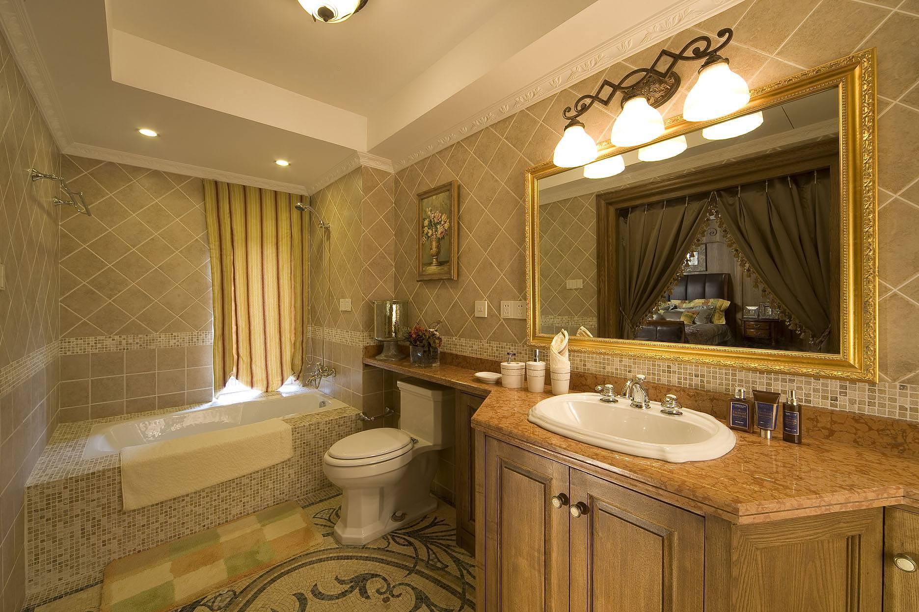 美式风格浴室装修特点 随性的浪漫