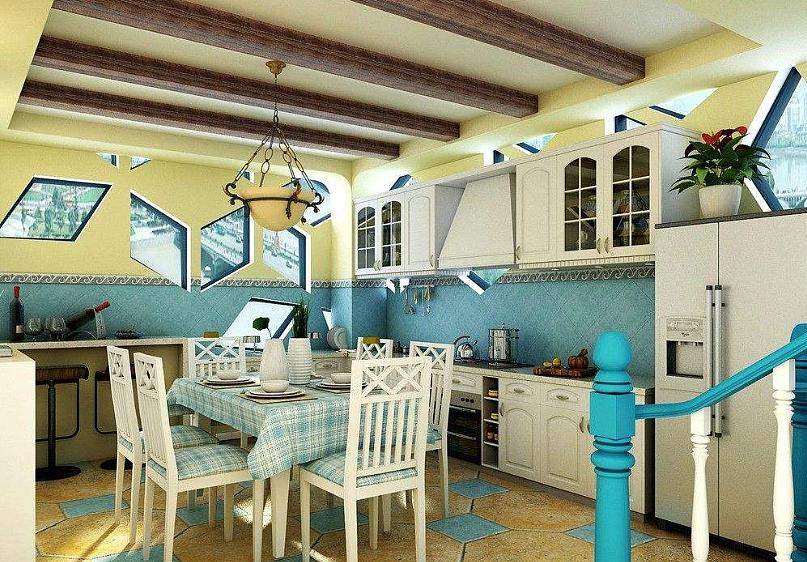 地中海风格厨房吊顶设计要考虑哪些