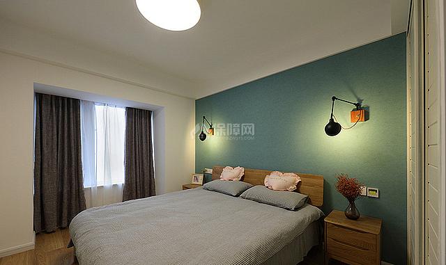 89㎡混搭风三居之卧室装修效果图