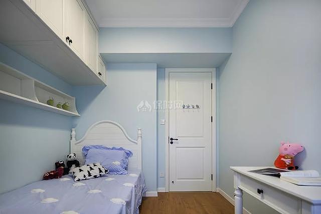 89㎡现代美式两居之儿童房墙面装饰效果图
