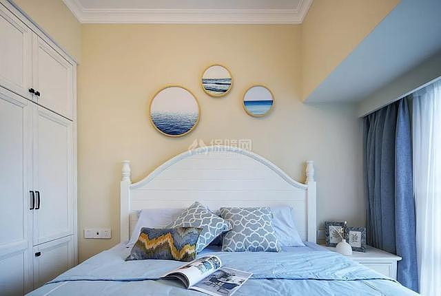 89㎡现代美式两居之主卧设计效果图