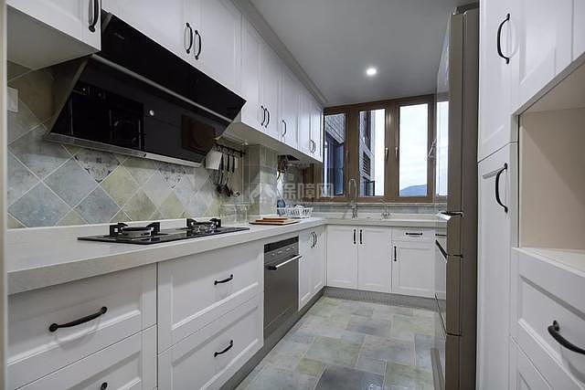 89㎡现代美式两居之厨房装修效果图