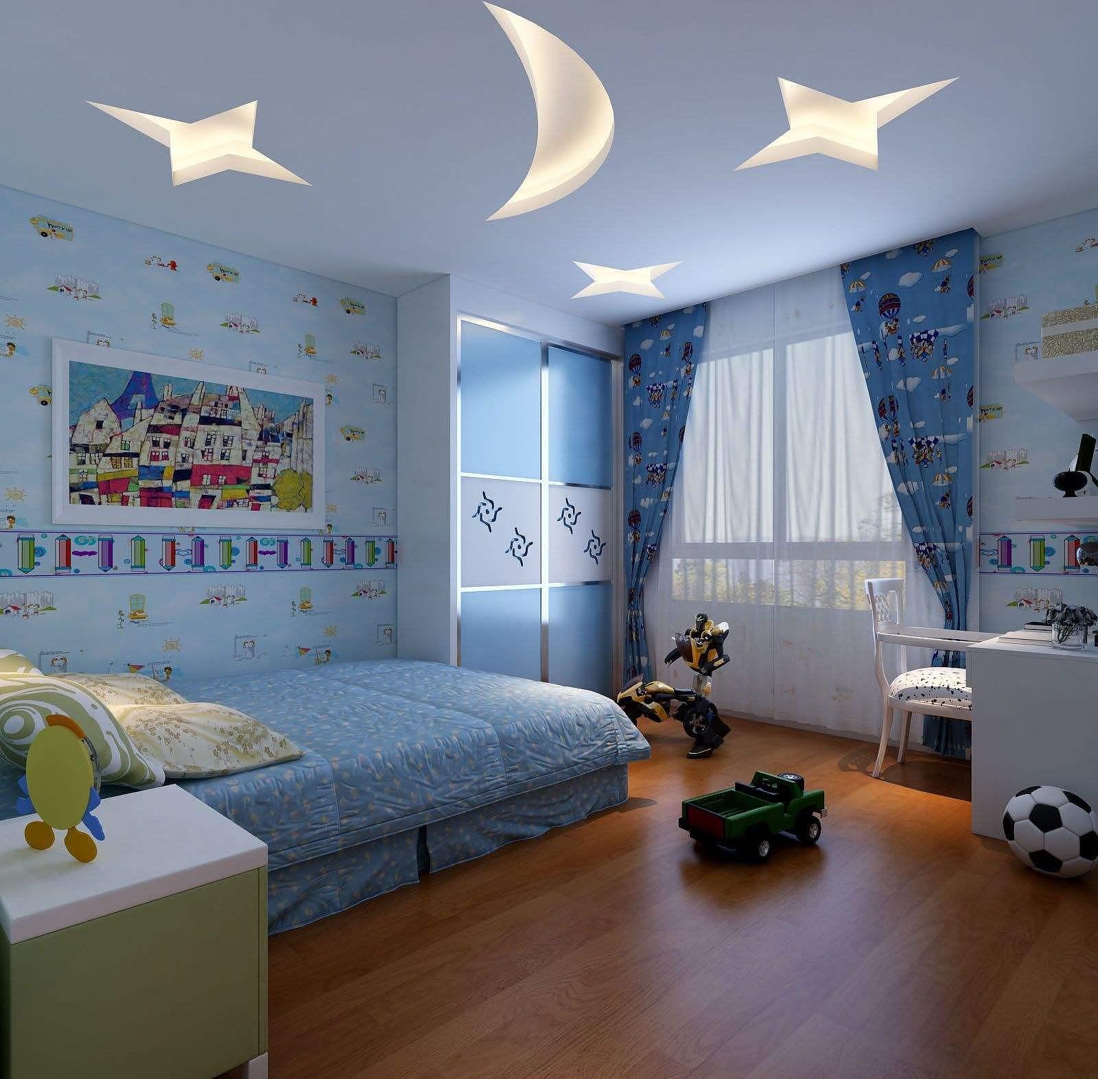 儿童房创意吊顶效果图 激发孩子无穷想象力