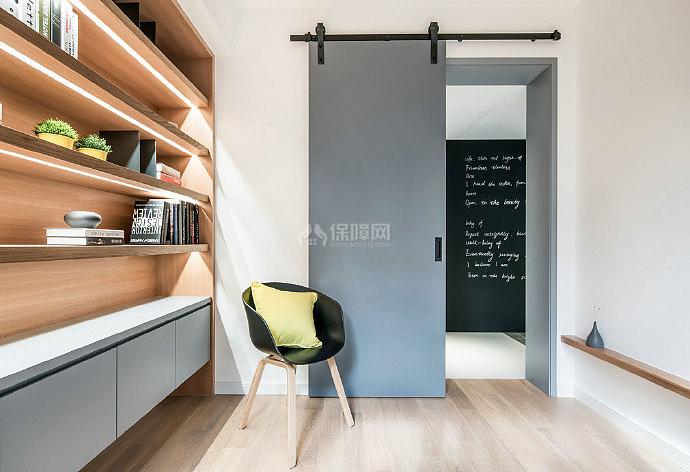 126㎡现代简约三居之书房装修设计效果图