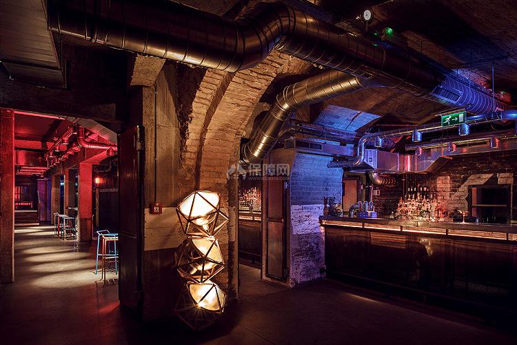 Kolor酒吧餐厅之地下层舞池酒吧设计效果图