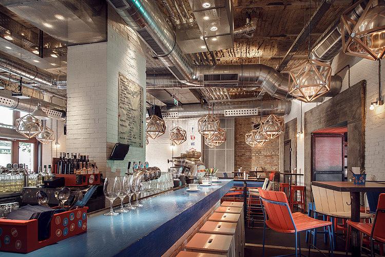 Kolor酒吧餐厅之一层吧台设计效果图