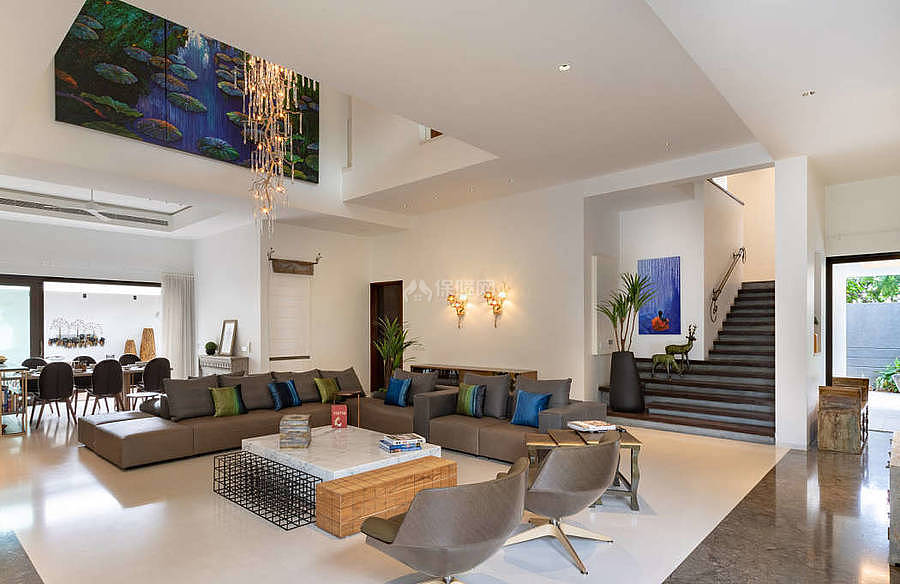 莫里克万怡酒店之一层休闲区装修布置效果图
