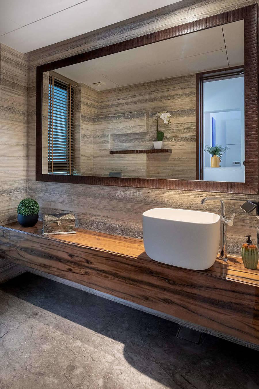 莫里克万怡酒店之卫生间洗手台设计效果图