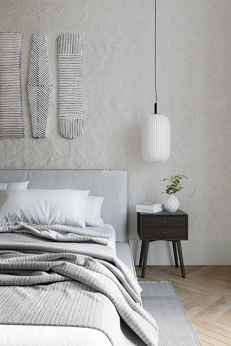 75㎡清新风两居之卧室床头吊灯细节图