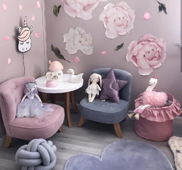 萌感十足的北欧风格儿童房装修案例