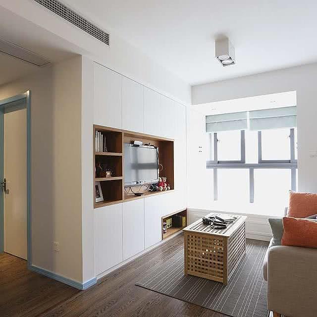 一人独居45平北欧风格公寓 小阳台改造成小飘窗