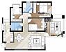 110平三室两厅新中式房子 装修花了不到20万