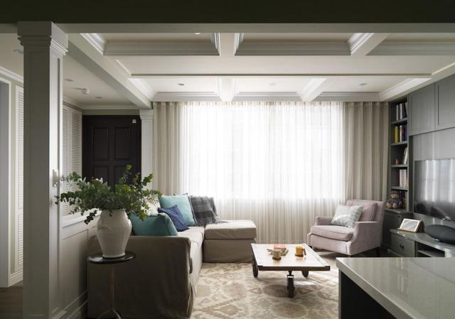 80㎡美式这样装 商品房也能住出豪华别墅的感受
