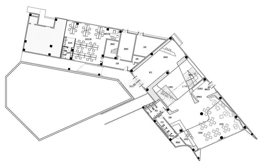 万科公园传奇售楼部平面图
