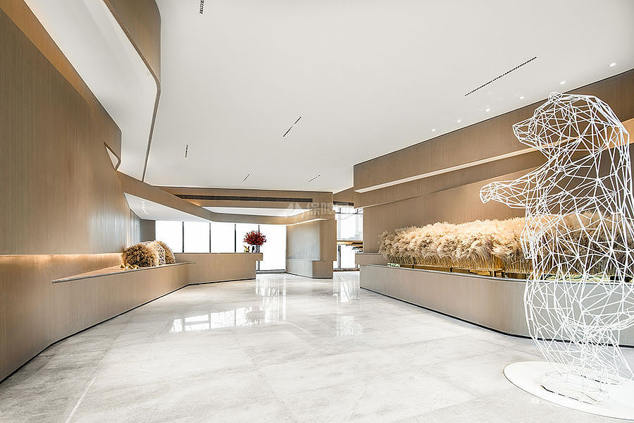 万科公园传奇售楼部前厅装潢设计效果图