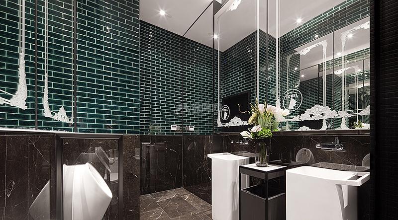 中洲理想仓销售中心洗手间设计效果图