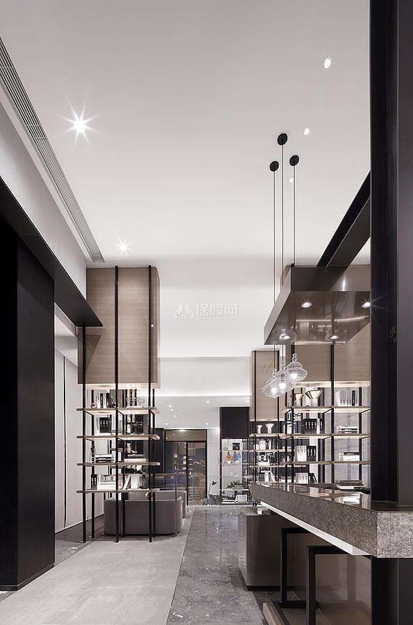 中洲理想仓销售中心前台兼吧台设计效果图
