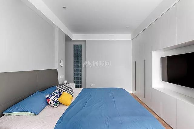 140平简约风卧室电视墙设计效果图