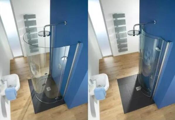 2平米的衛生間,居然擠出了1平米的淋浴房?怎么辦到的