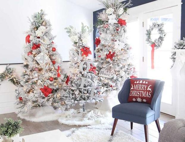 独特的圣诞树装饰风格 为冬季带来节日气氛