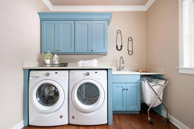 完美的小型洗衣房 精巧的空间创意结合时尚的功能设计