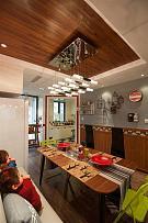 99㎡时尚田园风餐厅吊灯装饰