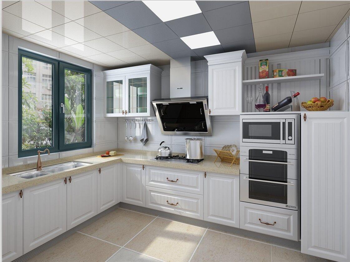 厨房当下最流行瓷砖橱柜 它和整体橱柜有什么不同