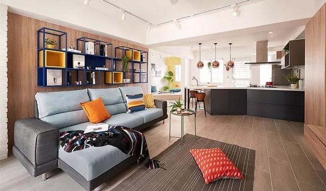 99㎡二手房现代风装修改造 打造缤纷亮丽的家居生活