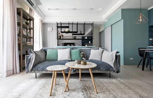 彩妝師裝修66㎡新房 用優雅灰藍打造法式風情