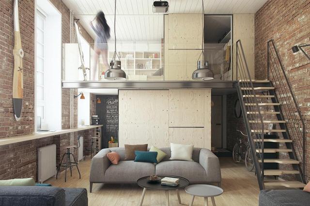 """精妙绝伦的工业风LOFT装修 直接把家装成了""""电影院"""""""