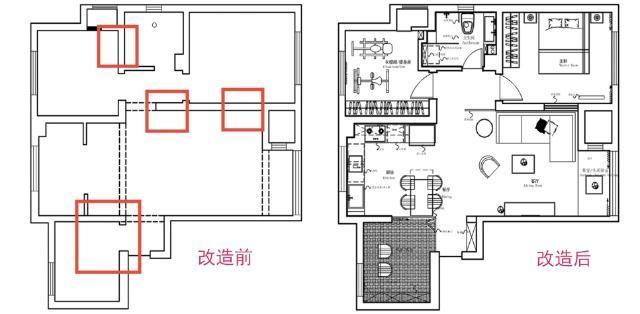 110平美式三房复古风格设计 客厅砖墙工业风浓